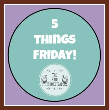 5 Things Friday with The Reid Homestead five favorite things of the week