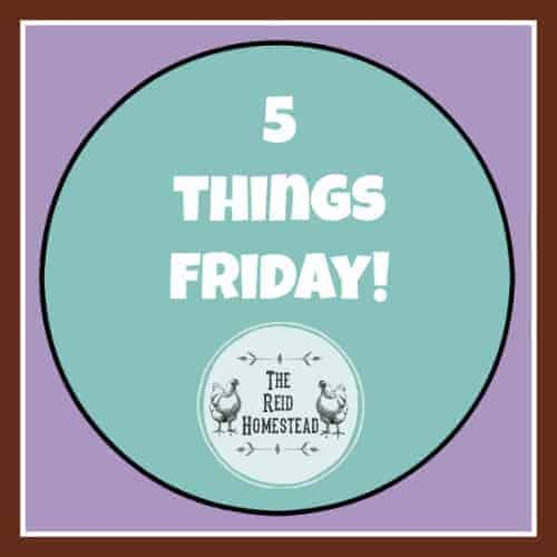 5 Things Friday – 3/2/18