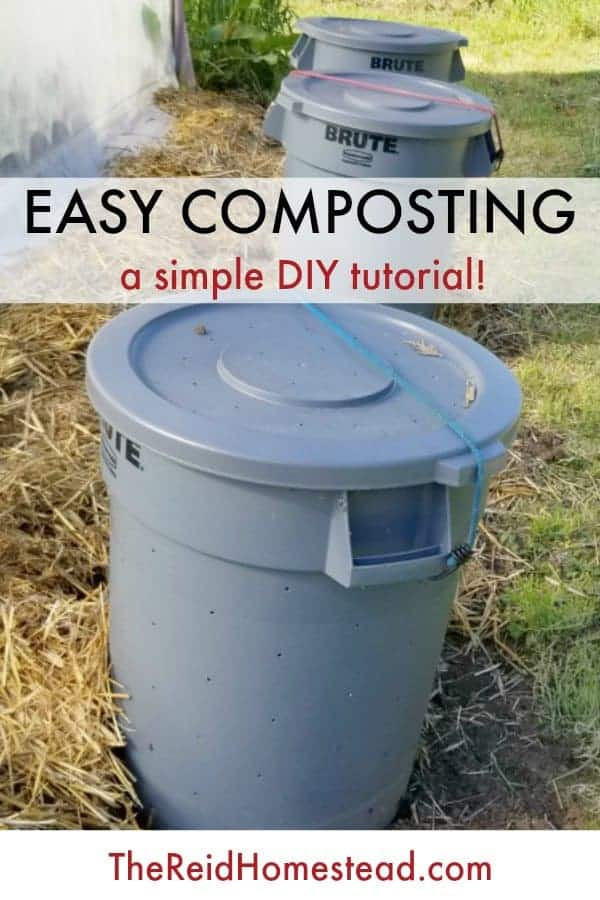 pinterest pin showing compost bins