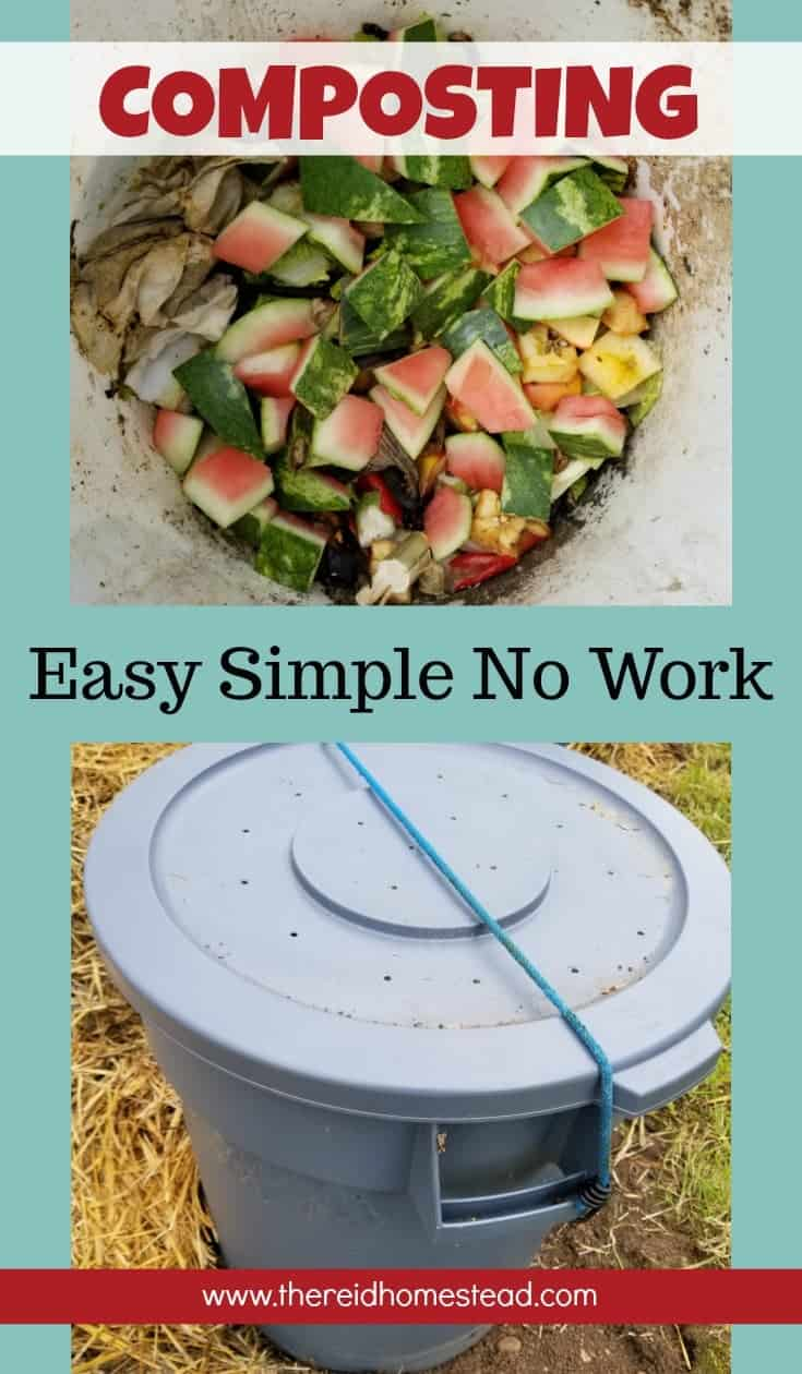 If you like to putter in the garden, you MUST use compost! Create your own with this Easy Simple No Work DIY Composting Tutorial! The Reid Homestead #compost #composting #gardeningtips