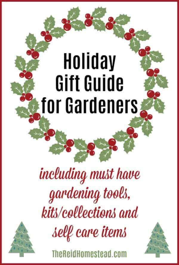 all text Pin for Holiday Gift Guide for Gardeners