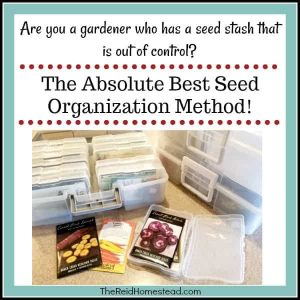 Are you a gardener with a messy seed stash problem? Check out the best system out there on how to keep your seed stash organized! #seeds #seedaddict #seedstash #organization