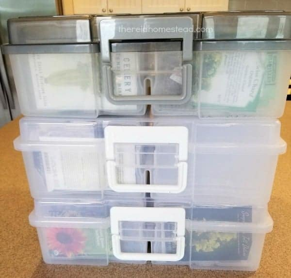 photo box cases to organize your seed collection