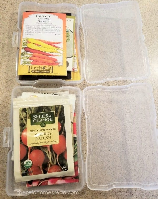 photo boxes to organize your seed stash