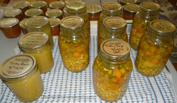 15 Reasons Wh You Should Be Pressure Canning on Your Homestead. Don't be scared! Pressure Canning is a must do and I will tell you why! ~The Reid Homestead #pressurecanning #canning #foodpreservation #homesteading #preservetheharvest #foodinjars #selfsufficient #preparedness #canningturkeysoup #canningturkeystock
