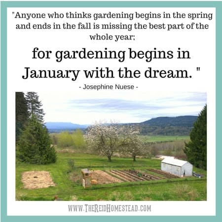 New Year Goals on the Homestead - The Reid Homestead #newyeargoals #goals #goalsetting #gardeninggoals