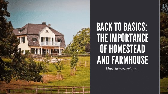 farmhouse with text overlay Back to Basics: The Importance of Homestead and Farmhouse