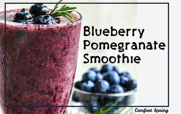 blueberry promegranate smoothis