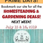 amazon prime days homesteading and gardening deals