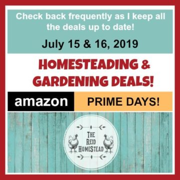 homesteading & gardening deals for amazon prime days