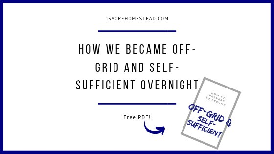 Text on white background: how to become off-gridd and self-sufficient overnight