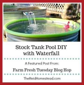 stock tank pool with text overlay Stock Tank Pool DIy with Waterfall