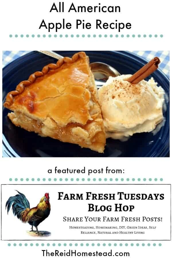 apple pie with text overlay All American apple Pie Recipe