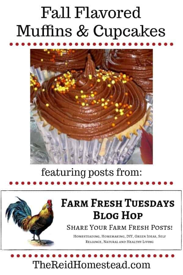 fall flavored muffin & cupcake recipes featured on this weeks Farm Fresh Tuesday Blog Hop