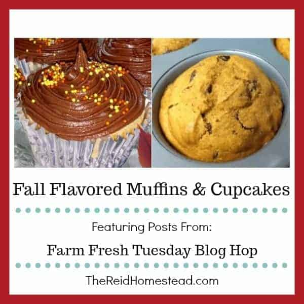 fall flavored muffins & cupcakes featuring posts from the farm fresh tuesday blog hop
