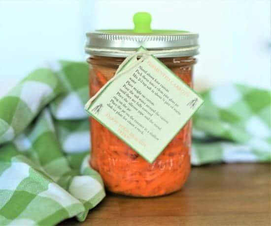 jar of fermented carrots