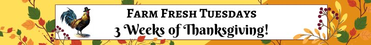 farm fresh tuesdays 3 weeks of thanksgiving text banner