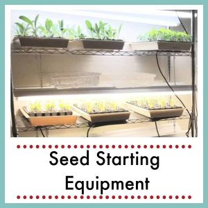 seed starting rack with text overlay Seed Starting Equipment